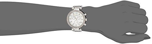 Akribos XXIV Women's Pure Elegance Chronograph Quartz Watch with Crystal-Accented Dial and Bezel, and Stainless Steel Bracelet AK529SS