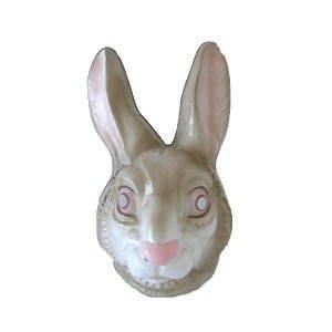 Hartplastik Tier-Maske für Erwachsene Hase