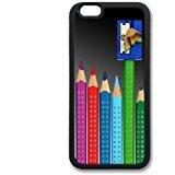 Personalized Fashion Design Colored Colored Pencils TPU Noir Coque For