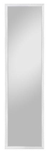 Spiegelprofi H0230131 Rahmenspiegel, Holz, weiß, 35 x 125 cm