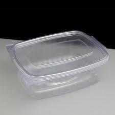 Deli Supplies 500 x 375cc Caterbox Transparent Boîte à charnière salades de fruits de mer-Saladier à pâtes