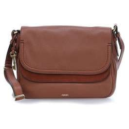 FOSSIL Peyton Large Double Flap Brown