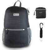 The Friendly Swede 25L Ultralight Packable Backpack Daypack with Paracord Keychain
