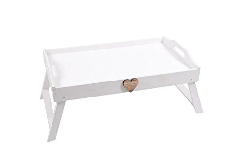 Vassoio portacolazione da letto realizzato in legno 50x30x20cm