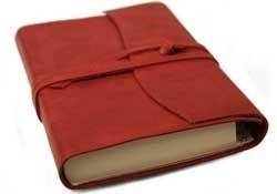 Capri Adressbuch handgefertigt mit Italienisches Ledereinband Ziegelrot Small (13cm x 9cm x 2cm)