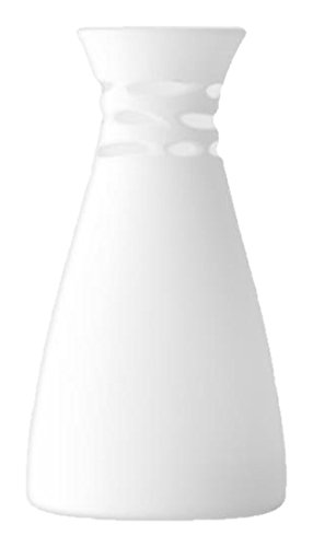 Lsa International Crochet Vase H30 Cm, White Matte