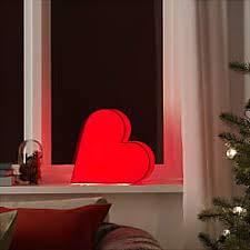 Ikea Strala Dekobeleuchtung Papier Herz Rot 30cm