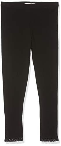 Schwarze Mädchen Sporthose (Name IT NOS Mädchen NKFVISTA Capri NOOS Leggings, Schwarz (Black), (Herstellergröße: 140))