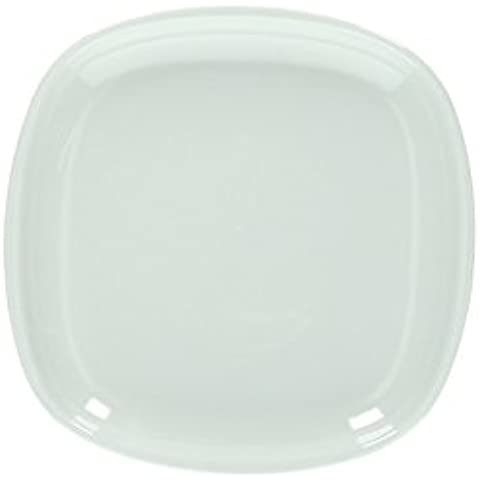 Plato cuadrado de cristal Capri Tognana 18 x 18 cm, blanco