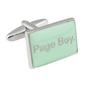 Mint Green Page Boy Cufflinks