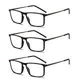 Suertree Lesebrille Ultralight Computer Gläser Frauen Männer schlanke Leser Vintage Edelstahl Frame Brillen 3.0X BM501