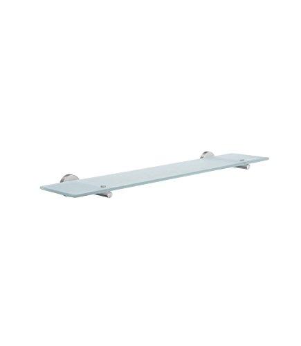 Smedbo Home Glas verchromt matt Badezimmer Regal mit Klammern, silber/weiß (Regal Klammern Messing)