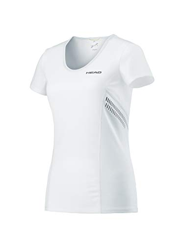 HEAD Damen Club Technical Shirt Women T, weiß, L