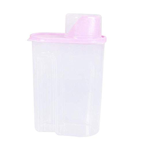 Bobopai Plastic Kitchen Food Cereal Grain Bean Rice Storage Container Box Storage HP (pink, Free Size) (Pink)