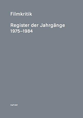 Filmkritik: Register der Jahrgänge 1975-1984