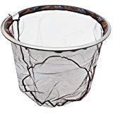 Nylon-mesh-material (Saim Fisch Kescher Angeln Net Ersatz Netz, strapazierfähiges Nylon Material Mesh, sicher Fisch fangen oder Freigibt, Gewinde M8, coffee)