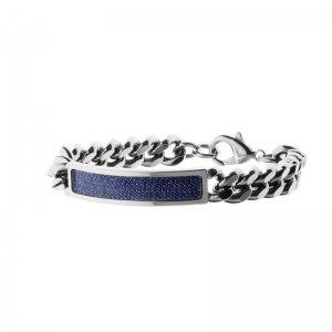Armband Stroili Schmuck Messing rhodiniert, Jeans und Kristallen Collection Bling Bling Denim (Bling Jean)