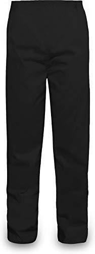 normani Outdoor Sports Regenhose für Damen und Herren wasserdicht 5000 mm für Wandern, Gassi gehen, Angeln oder Fahrad Fahren Farbe Schwarz Größe L