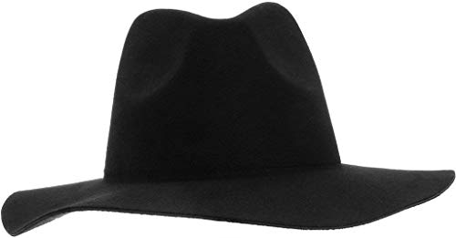 Cappello Di Feltro Casual Donna Da Cappello A Fashionable Tromba Ampio A  Tesa Larga Cappello A 339d6ba5244c