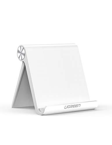 UGREEN - Soporte para Tablet de Escritorio, multiángulo, Ajustable, Compatible con Apple iPad Pro 11'/10.5'/9.7', iPad Mini 5 4 3 2, iPad Air 3 2 1, Nintendo Switch, Galaxy Tab A / S5 / S4 (Blanco)