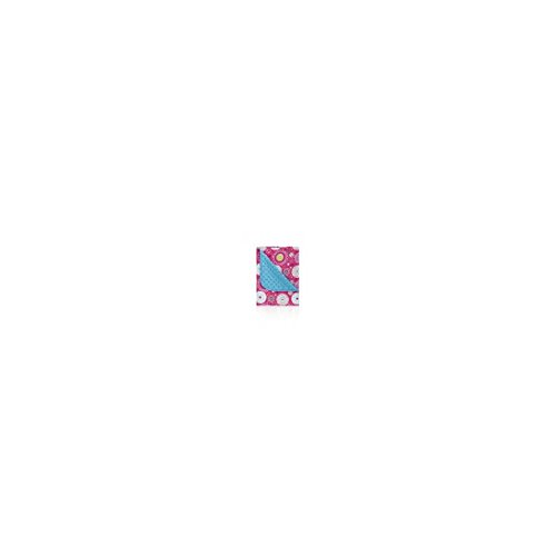pirulos 64030507–Decke doppelseitig, 80x 110, Folk, Farbe türkis