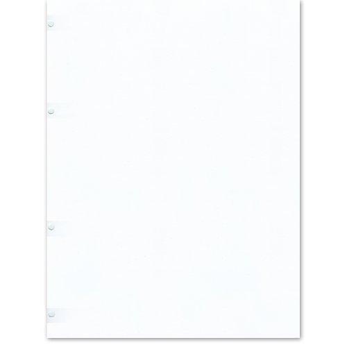 Semikolon (353092) Fotokarton 4 fach gelocht ivory (roh-weiß) | Geeignet für Foto-Ordner 4 Ring | 20 Blatt im Format 23 x 29,5 cm