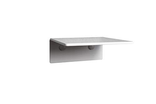 trelixx Einzelne Katzenstufe bis 5 kg weiß aus Plexiglas®/Acrylglas 14 x 15 cm ohne Korkauflage