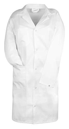 ZOLLNER Laborkittel Arztkittel aus Baumwolle, Größe 48 (weitere verfügbar), Herren, Farbe weiß