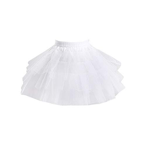 Mayoaoa Frauen Brautmehrschichtiger Weißer Ineinander Greifen Lolita Kurzer Petticoat Ballettröckchen Rock Mit Stahlring Prinzessin Sweet Bustle Wedding (Tanz Kostüm Mit Bustles)