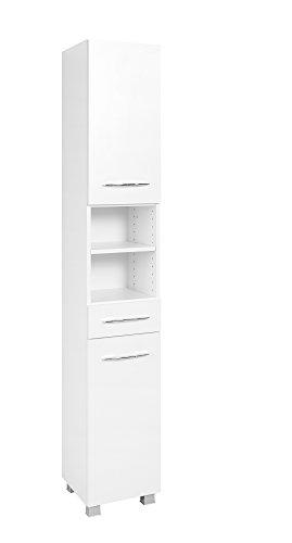 Held Möbel 082.1.2149 Seitenschrank 30, Holzwerkstoff, weiß, 35 x 30 x 185 cm