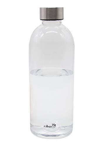 ZOLLNER24 Botella de Agua sin BPA de tritán, 1 litro, Disponible en 600 ml