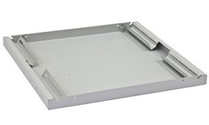 TRITON RAC-UP-850-A4 19 Zoll Fachboden, 1 HE, Tiefe: 850 mm, lichtgrau RAL7035
