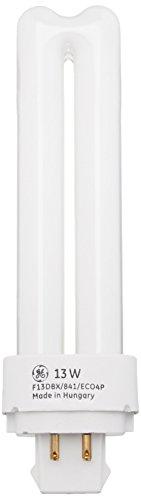 GE 97597–F13DBX/841/eco4p–13Watt quad-tube KOMPAKT, fluoreszierendes Licht, Glühbirne, 4Pin, 4100K, cool white 13.00 W 1.00 voltsV (Glühbirne, Ge Fluoreszierend)
