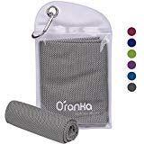 Oranka Cooling Towel, Chilling Neck Wrap Instant Cooling Ice Cold Scarf Evaporative Chilly
