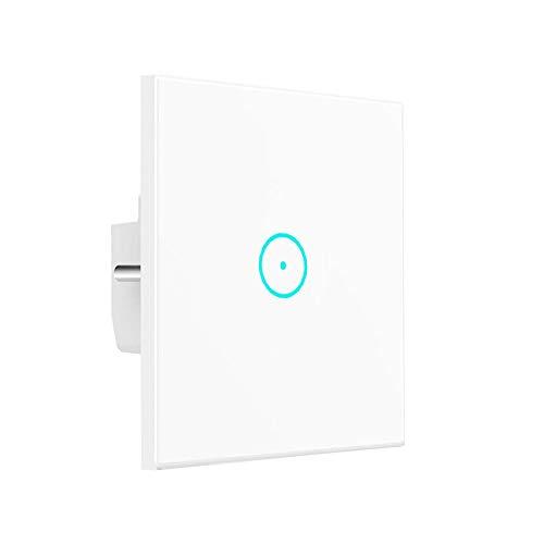 Conmutador de luz inteligente Interruptor WLAN de pantalla táctil, trabajo con Alexa...