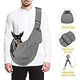 SlowTon Haustier-Tragetasche, für Hunde und Katzen, mit Schultergurt, verstellbar, gepolstert,...