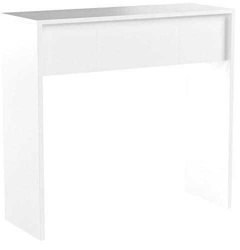 Vicco Schminktisch MIA 76 x 100 cm Weiß Hochglanz - Frisiertisch Kommode Spiegel +++ Schminkkommode mit 2 Schubfächer und einklappbaren Spiegel +++ (weiß)