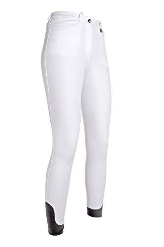 HKM Erwachsene Reithose-Kate-Silikon-Kniebesatz1200 weiß134 Hose, 1200 weiß, 134