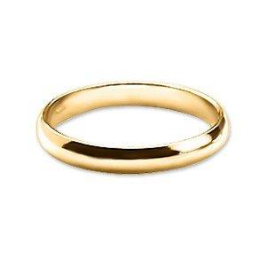 BAGUE ANNEAU ALLIANCE MARIAGE FIANCAILLE HOMME FEMME PLAQUE OR 4mm - 54