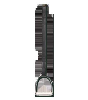 Waldhausen Steigbügelschlaufe Leder, schwarz, 70 cm