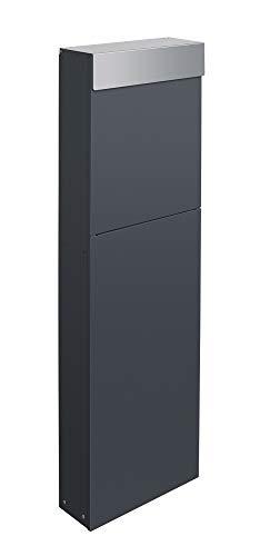 Frabox® Design Standbriefkasten NAMUR anthrazitgrau RAL 7016 / Edelstahl - Made in Germany!