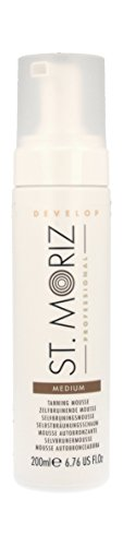 St. Moriz Professional Selbstbräunungs-Mousse Medium, 1er Pack (1 x 200 ml) (Mousse Self Tanning Instant)