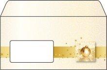 """Sigel© Weihnachts-Umschlag, Golden Times, DIN lang (110x220 mm), 90 g/mý, 50 Umschl""""ge"""