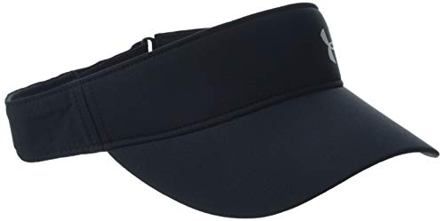 Under Armour Damen UA Fly by Visor Kappe, Schwarz, OSFA - Tennis Visor