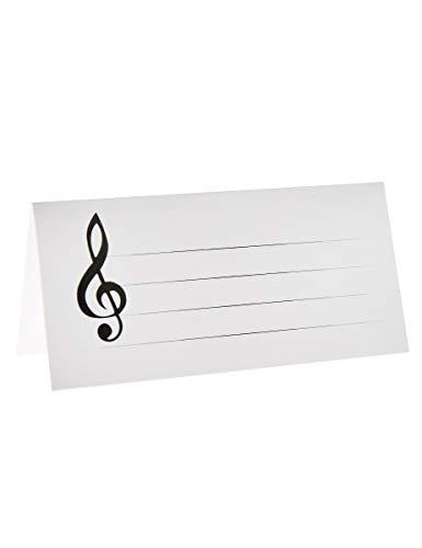 NEU Tischkarten Musiknoten, 3x7 cm, 10 - Kostüm Ceremonie
