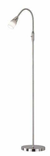 Khl LED Leselampe Leseleuchte Halvar mit 6 Watt 2700k 165cm nickel matt KH42201007
