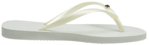 Havaianas Infradito Donna Slim Crystal Glamour Sw Multicolore (White/Gold 0277)