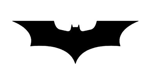 Batman Aufkleber, bat, vinyl, Spitzen Qualität, Konturgeschnitten, / (15x5cm), vielseitig verwendbar, mind. 7 Jahre Wetterfest !!! (schwarz) (Batman-laptop-aufkleber)