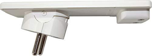 Schulte Elektrotechnik 1510 0000 0300 - Presa superpiatta EVOline con contatto di protezione, colore: Bianco