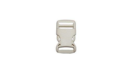 Lot de 10 Fermeture à clic à douille/Boucle/fermeture pour sangle 25 mm de largeur, couleur : blanc
